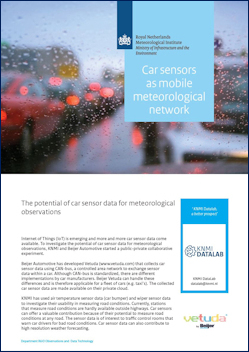 Car sensors as mobile meteorological network